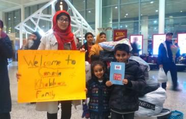 Refugees reunited at Toronto airport