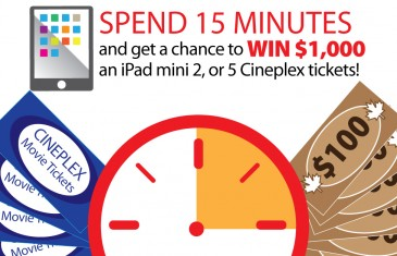 Get a chance to win $1,000 and more by simply answering this survey