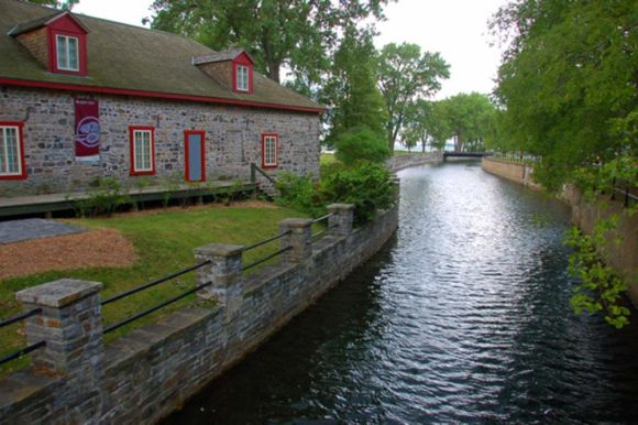 1803 stone fur trade warehouse on the Lachine Canal near Montreal
