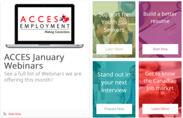 Online resource hub for career success: e-ACCES