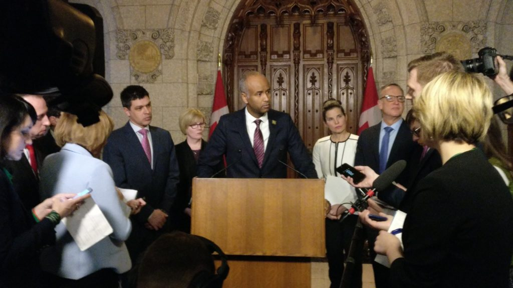 Immigration Minister Ahmed Hussen makes an announcement on Canada's medical inadmissibility policy amendment