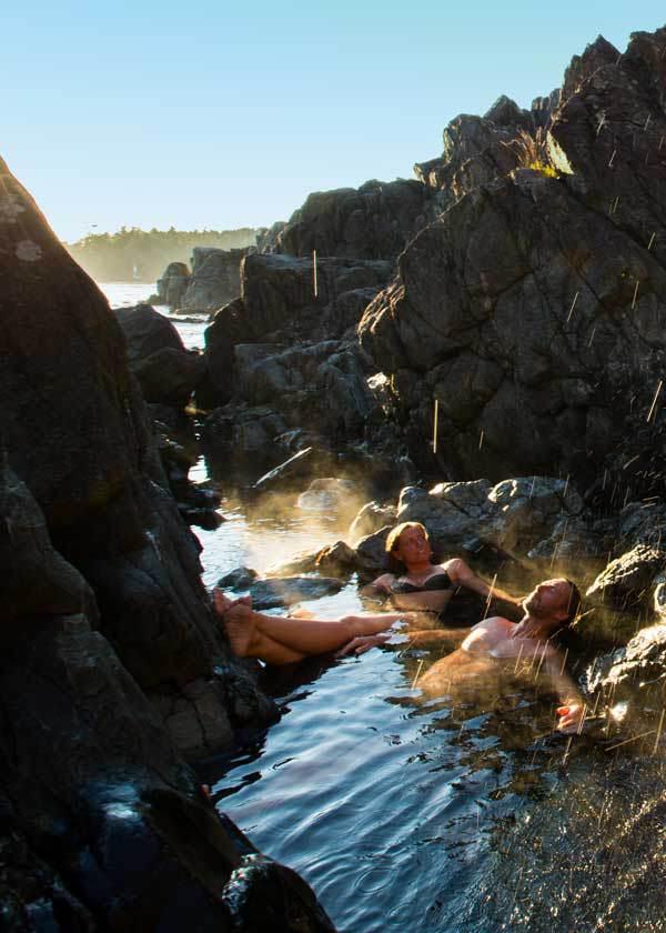 Hot springs in Canada